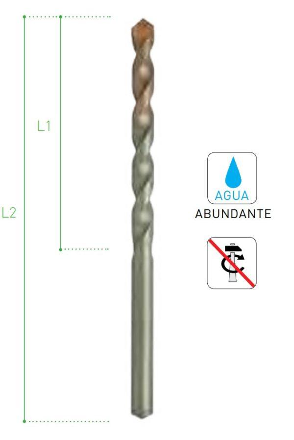 BROCA HUMEDO PORCELANICO 4 mm.