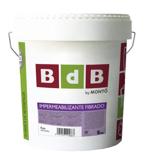 BdB IMPERMEABILIZANTE FIBRADO ROJO 20 kg.