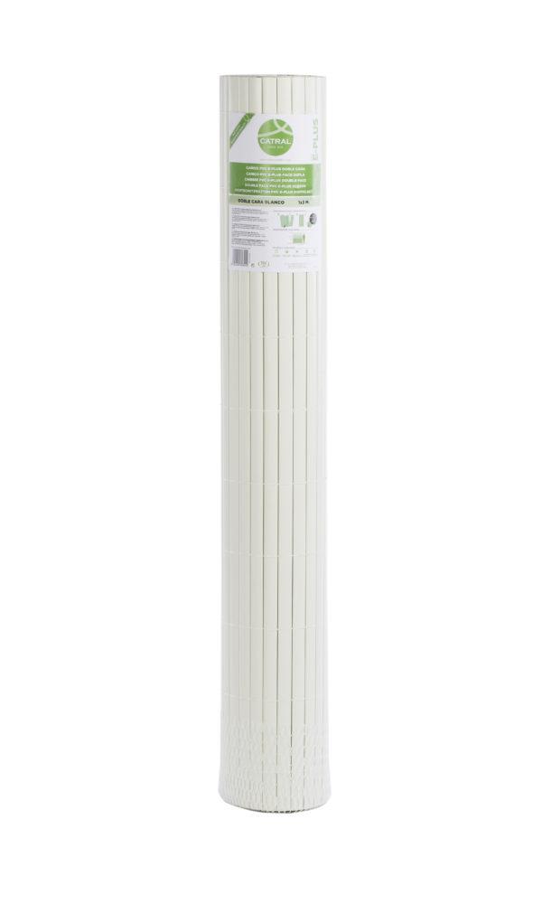 CAÑIZO PVC E-PLUS 20 MM DOBLE CARA BLANCO 1 m. x 3 m.