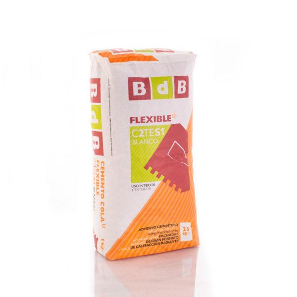 CEMENTO COLA FLEXIBLE BdB C2TES1 BLANCO 25 kg.