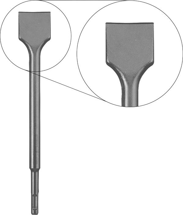 CINCEL ESPÁTULA SDS PLUS 250 mm.