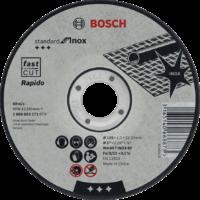 DISCO ABRASIVO STANDARD INOX: 115X1 mm.