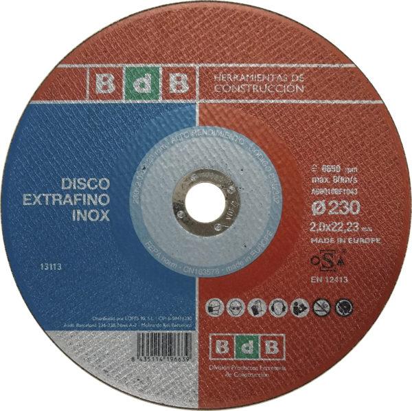 DISCO BdB CORTE INOX EXTRAFINO 115 mm.