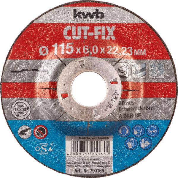 DISCO DESBASTE CUTFIX METAL 115 mm.