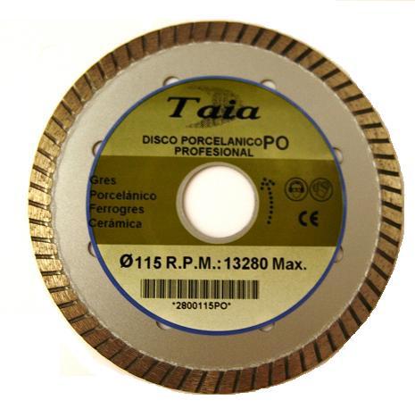 DISCO PORCELANICO PROFESIONAL 115 mm.