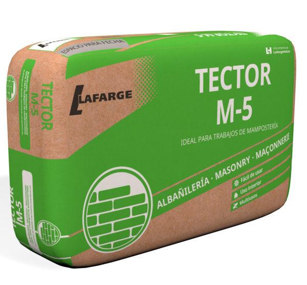 MORTERO SECO TECTOR M-5 GRIS 25 kg.