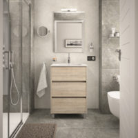 MUEBLE ARENYS ROBLE CALEDONIA + LAVABO 60x45x83