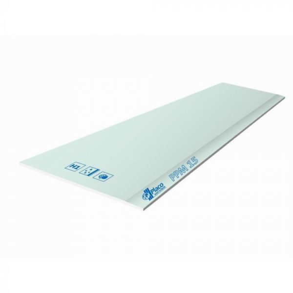 PLACA DE YESO LAMINADO PPM 15 1200x2500x15 mm.