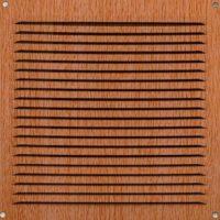 REJILLA ALUMINIO CON MOSQUITERA IMITACION MADERA 15x15 cm.