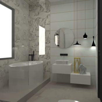 Baño revestimiento mármol