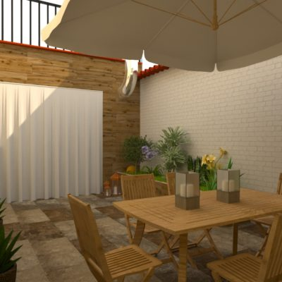 Patio Interior, vivienda unifamiliar