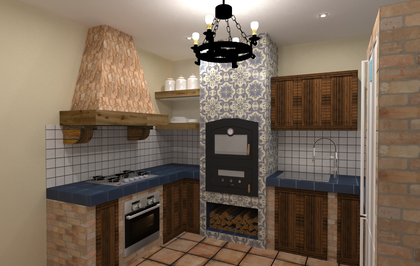 Cocina Rústica